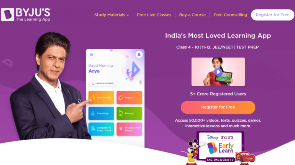 Byjus learning app- AB Blogging